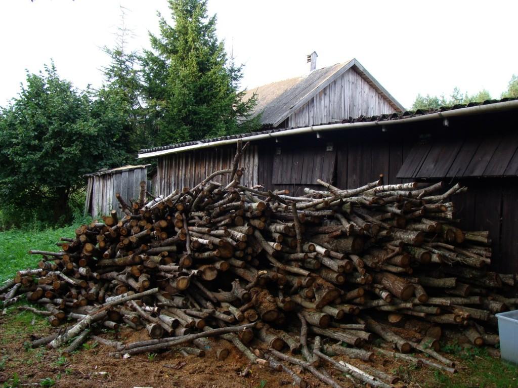 drewno za drewutnią